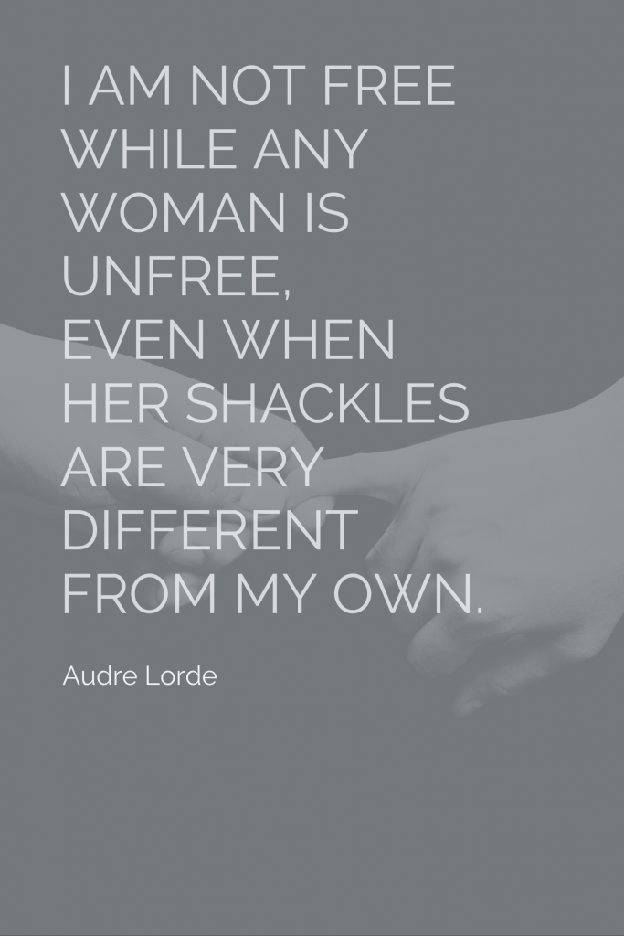Audre Lorde: I am not free quote