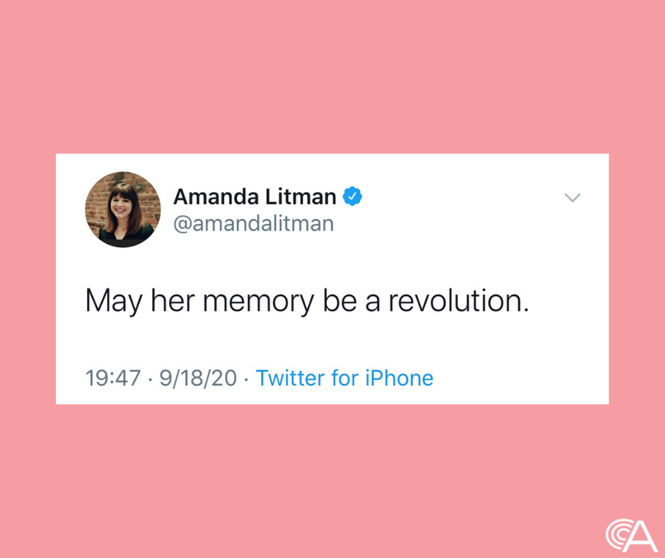 May her memory be a revolution RBG Amanda Litman