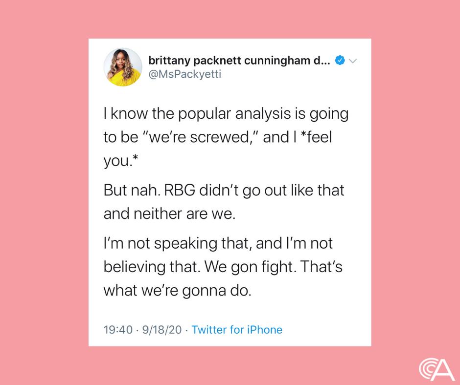 We're gonna fight for RBG Brittany Packnett Cunningham