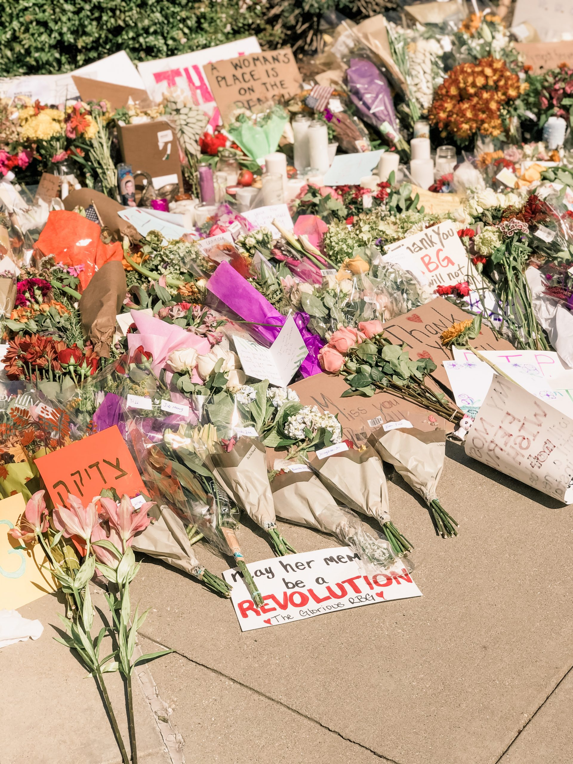 May her memory be a revolution RBG memorial at the Supreme Court