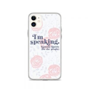 I'm Speaking Kamala Harris Floral iPhone Case