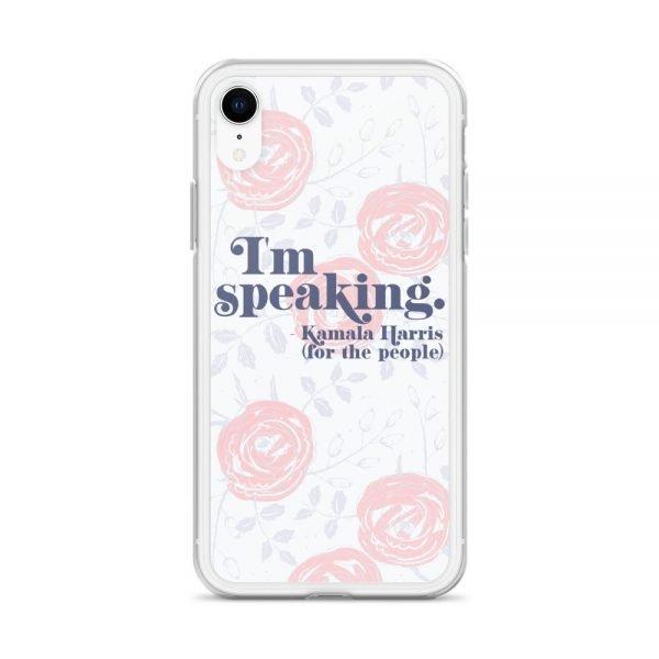 I'm Speaking Kamala Harris Floral iPhone Case