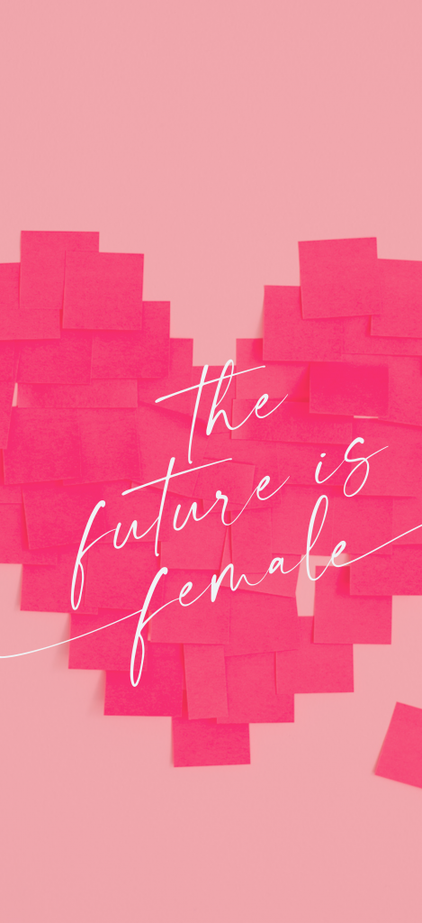The future is female smartphone iPhone wallpaper
