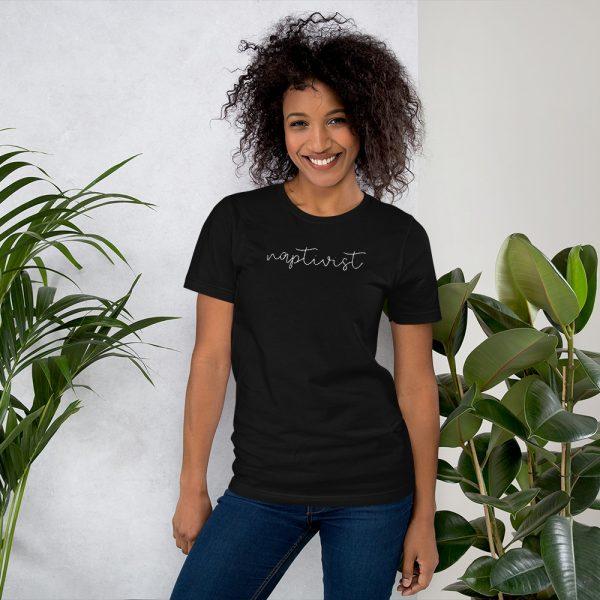 Naptivist tee shirt black
